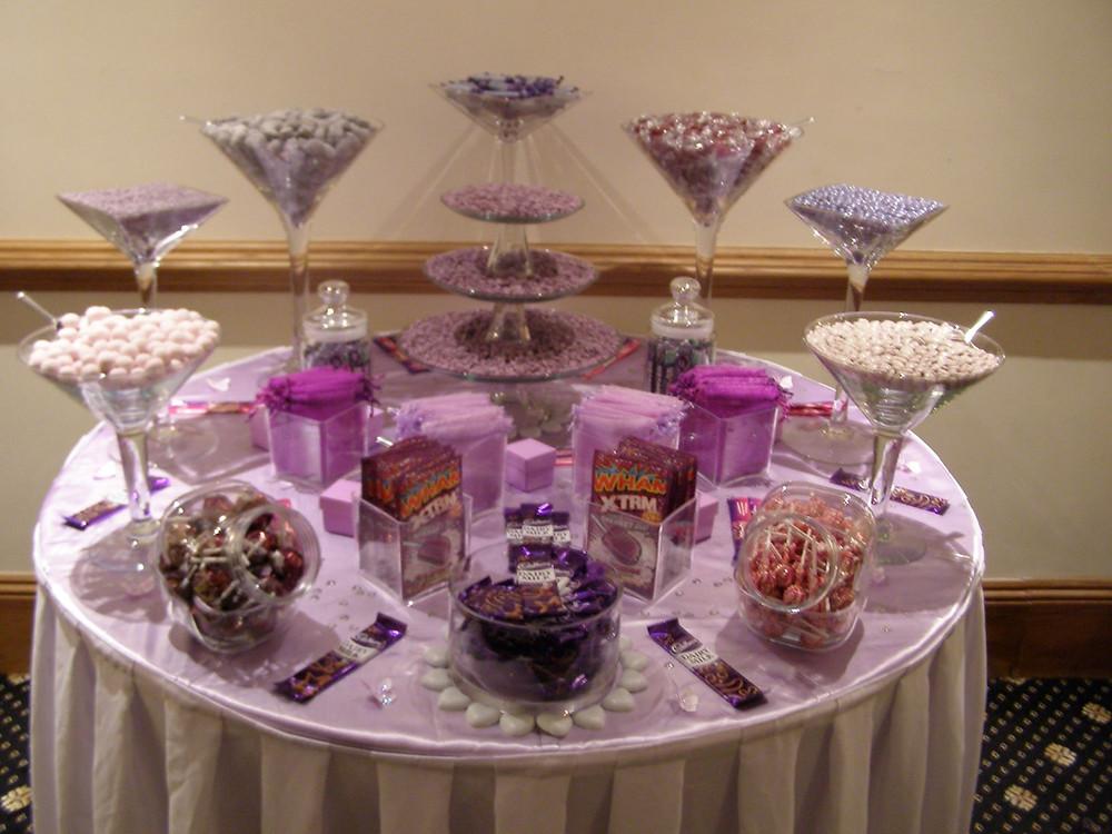 purple sweet table kent
