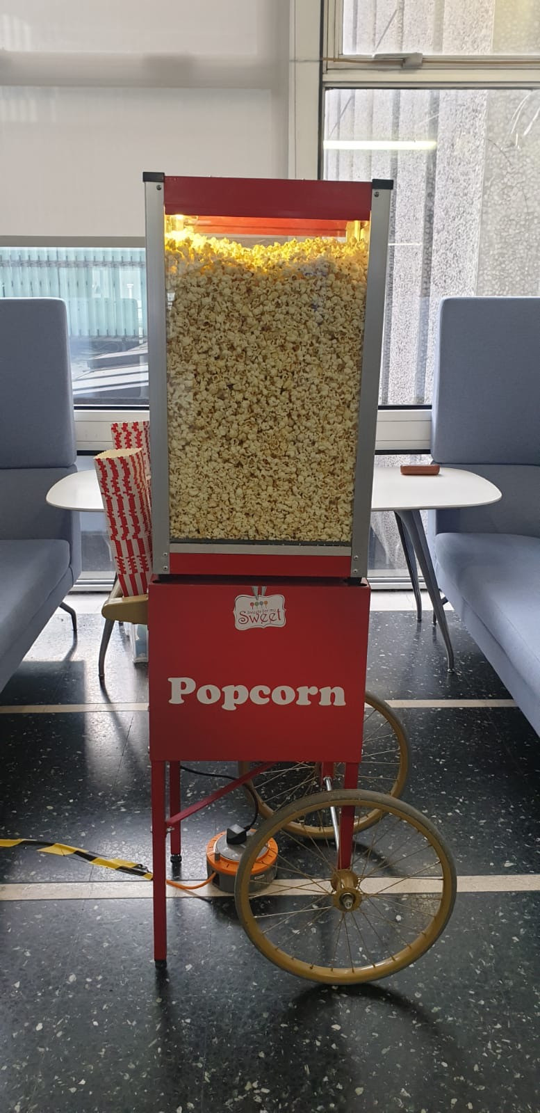 popcorn cart hire london imperial college