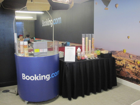 Branded Waffle Cart - Booking.com