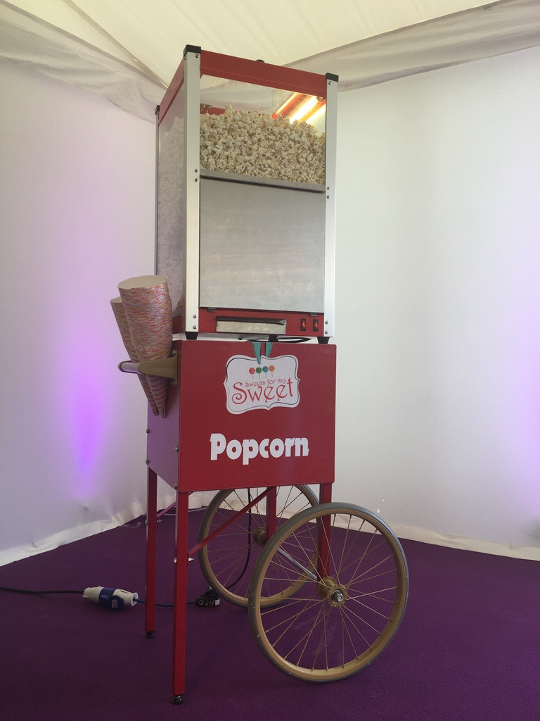 popcorn hire for weddings and events