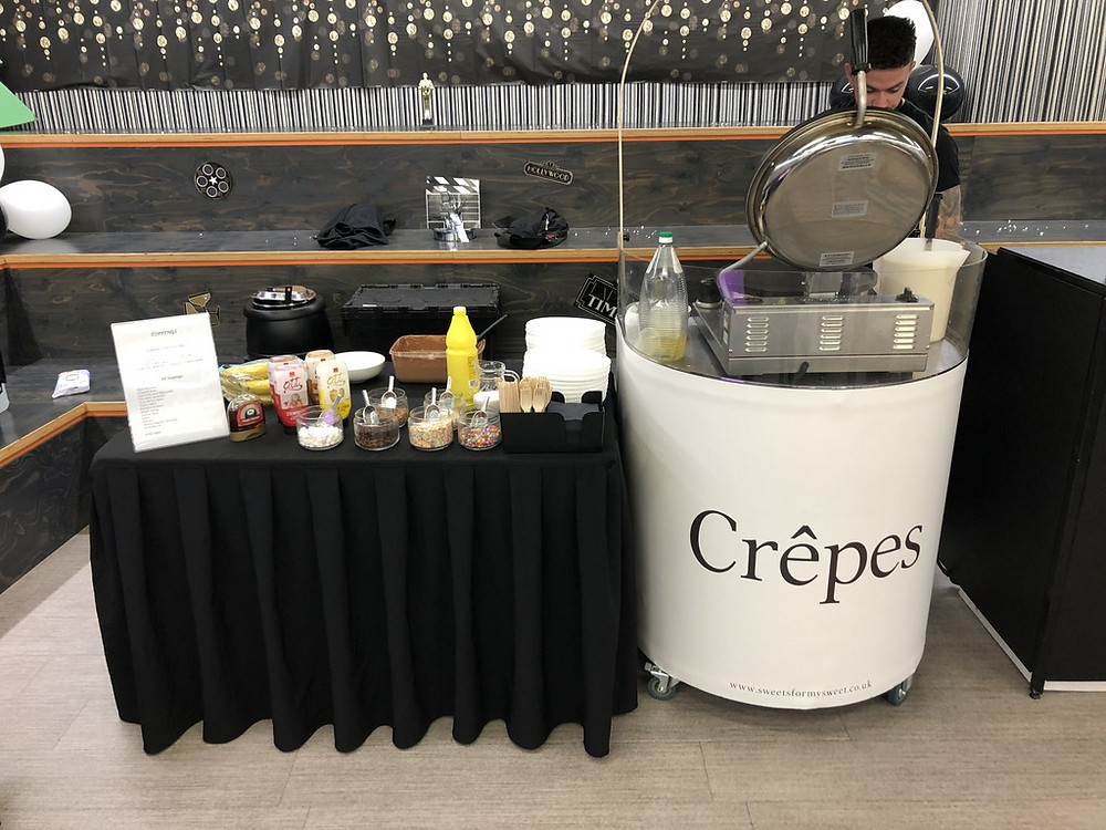 crepes cart hire central london