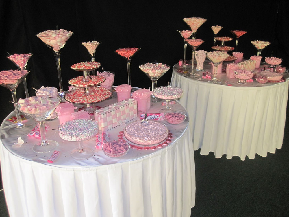 pink sweet tables wedding