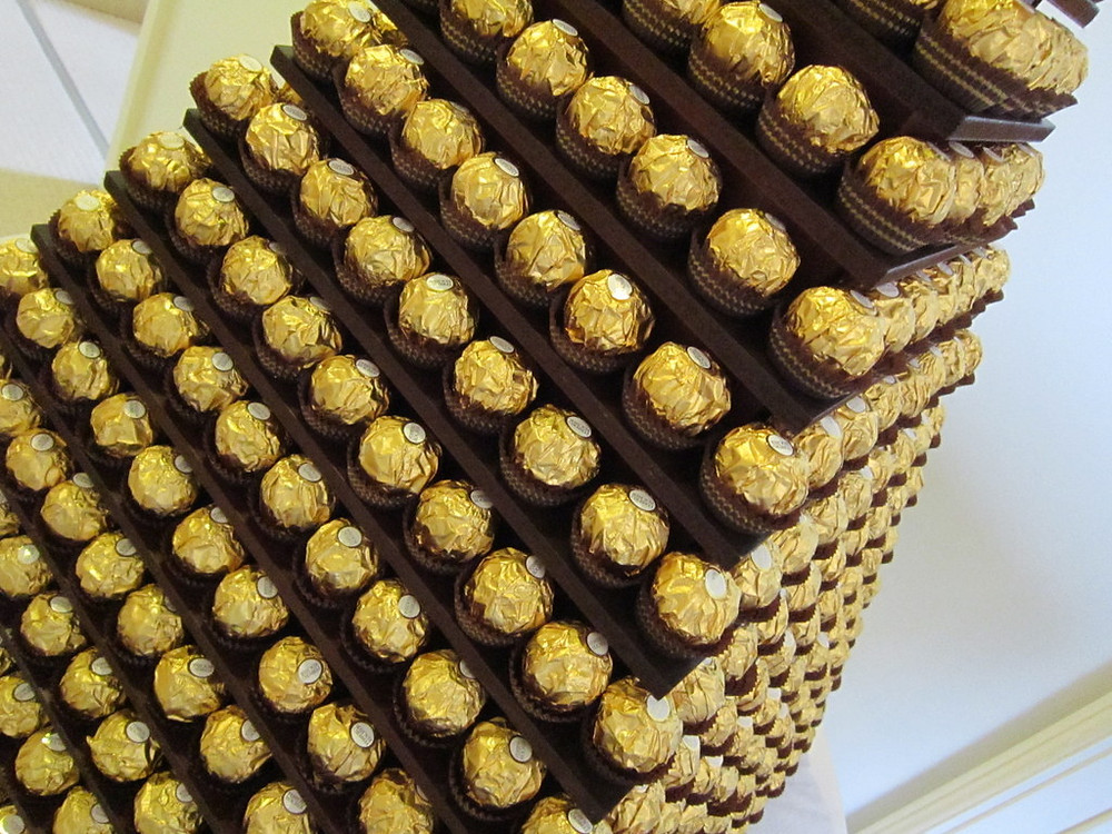 chocolate ferrero rocher pyramid hire kent