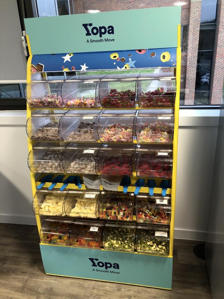 london office branded sweet hire