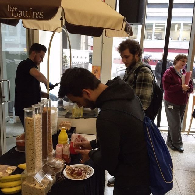 crepes served at event
