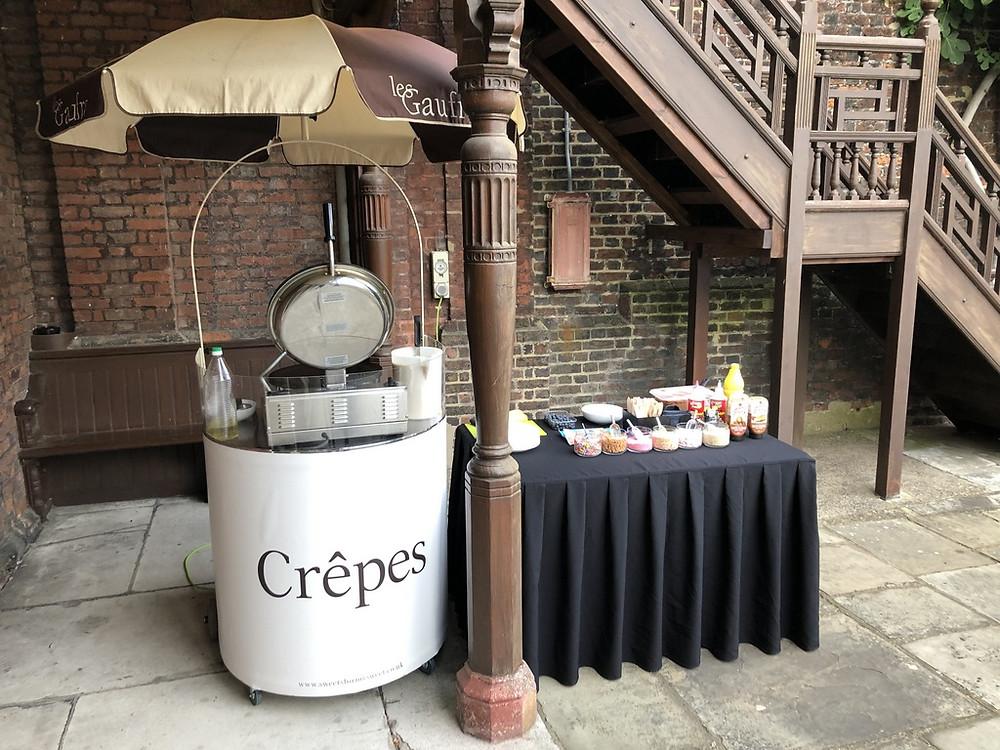 crepes wedding hire