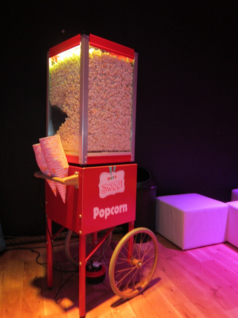 popcorn hire for events
