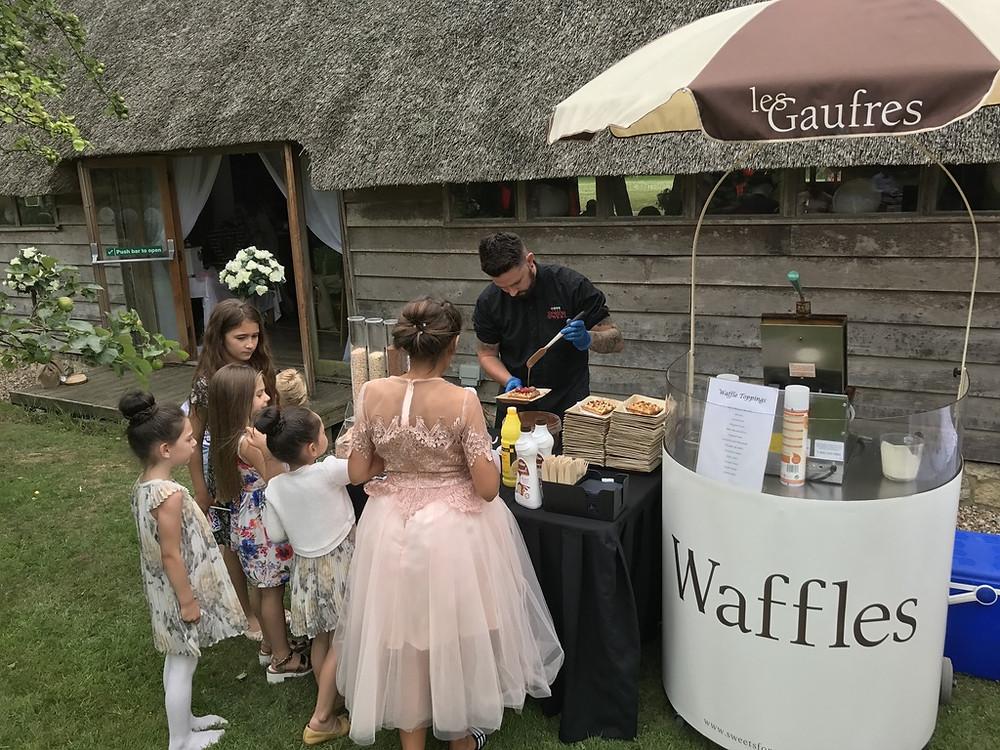 staffed waffle cart hire