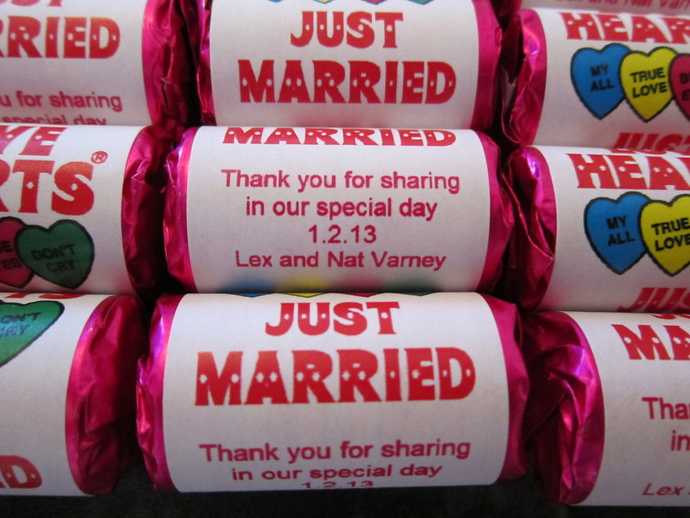 wedding sweets with your name