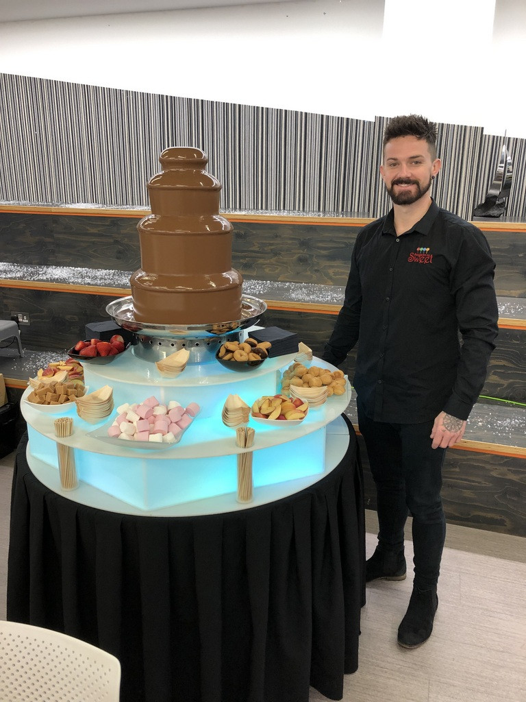chocolate fountain hire with staff