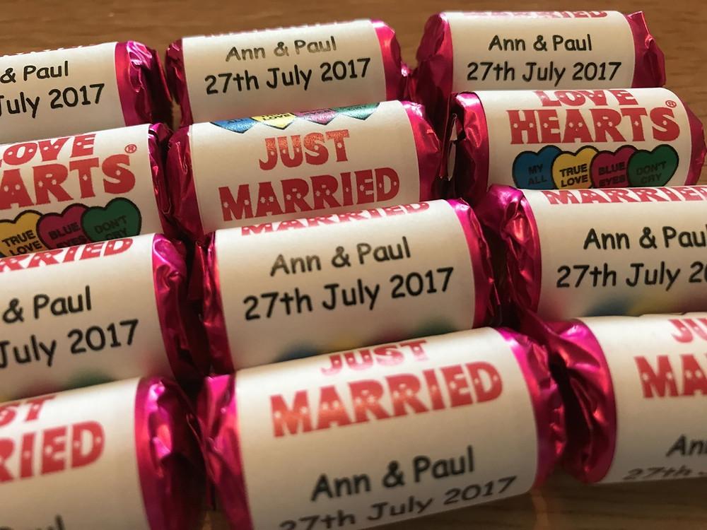 love hearts personalised wedding