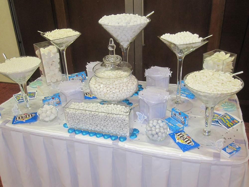 white wedding sweet table