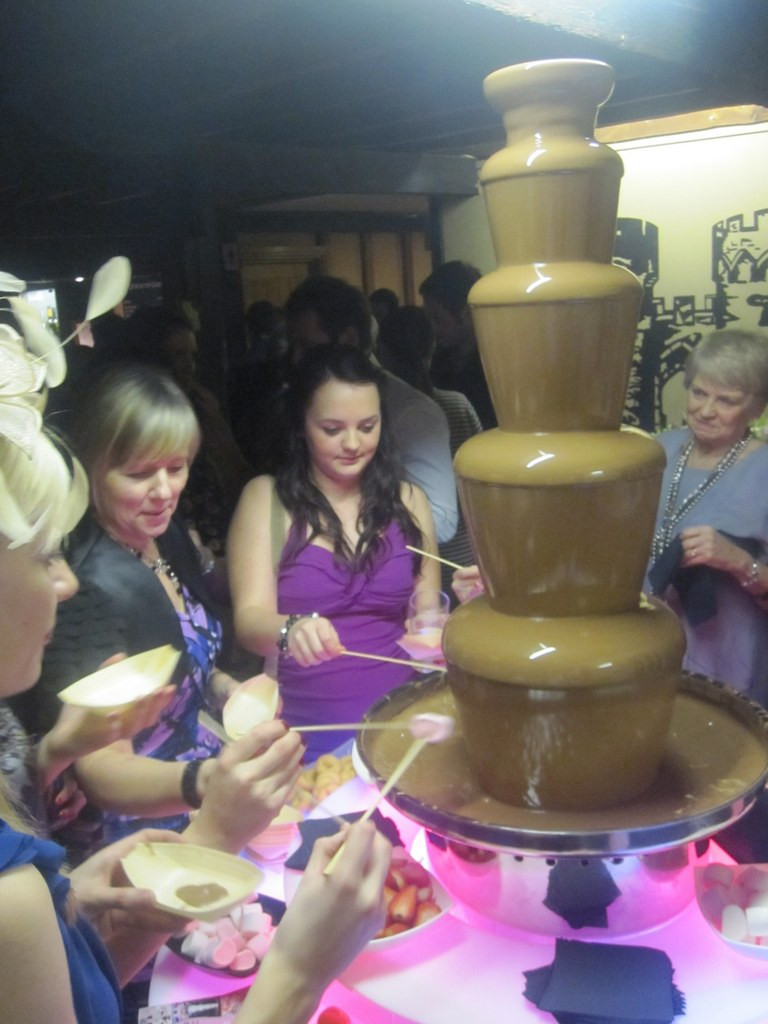 chocolate fountain hire cooling castle