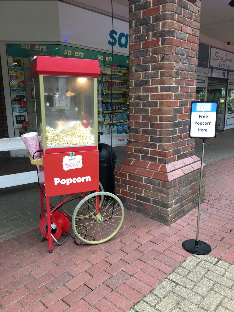 outdoor popcorn hire