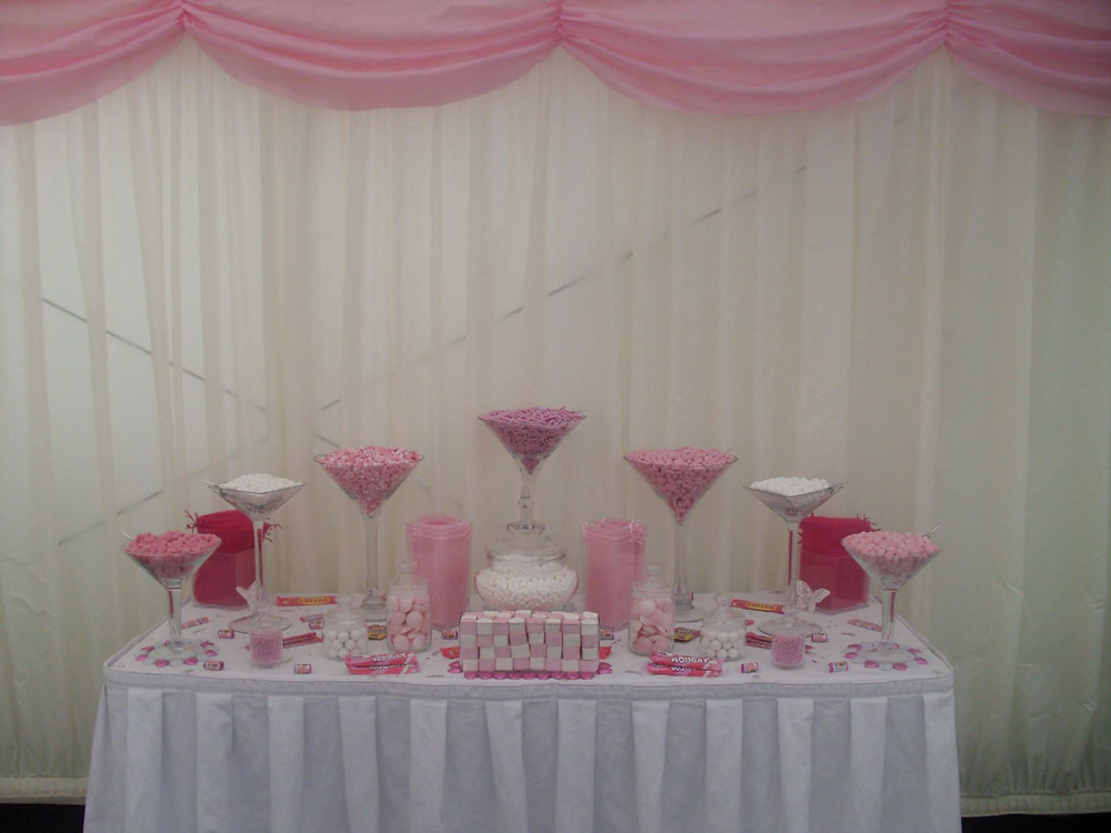 pink sweet table marquee
