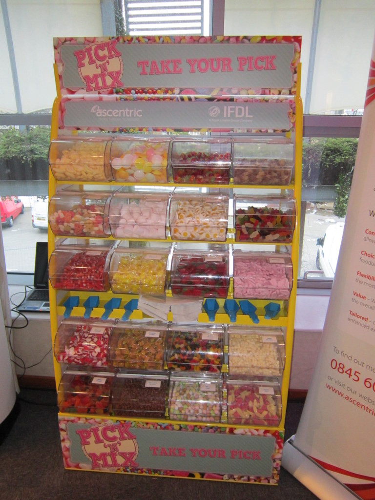 branded sweet display
