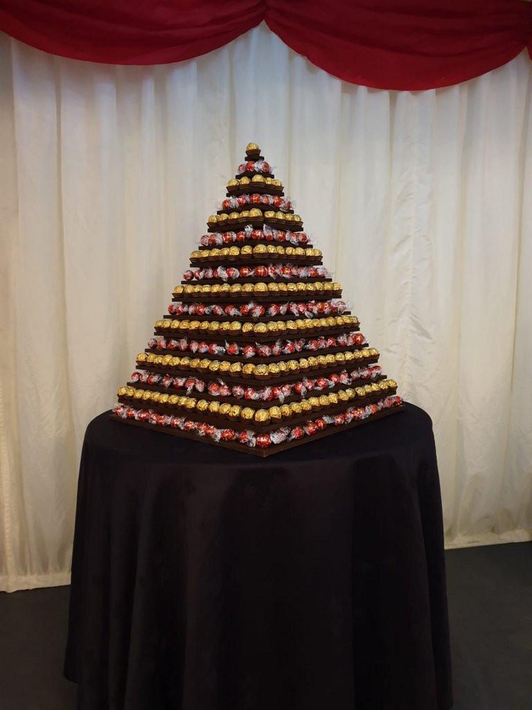 ferrerorocher lindtlindor pyramid hire