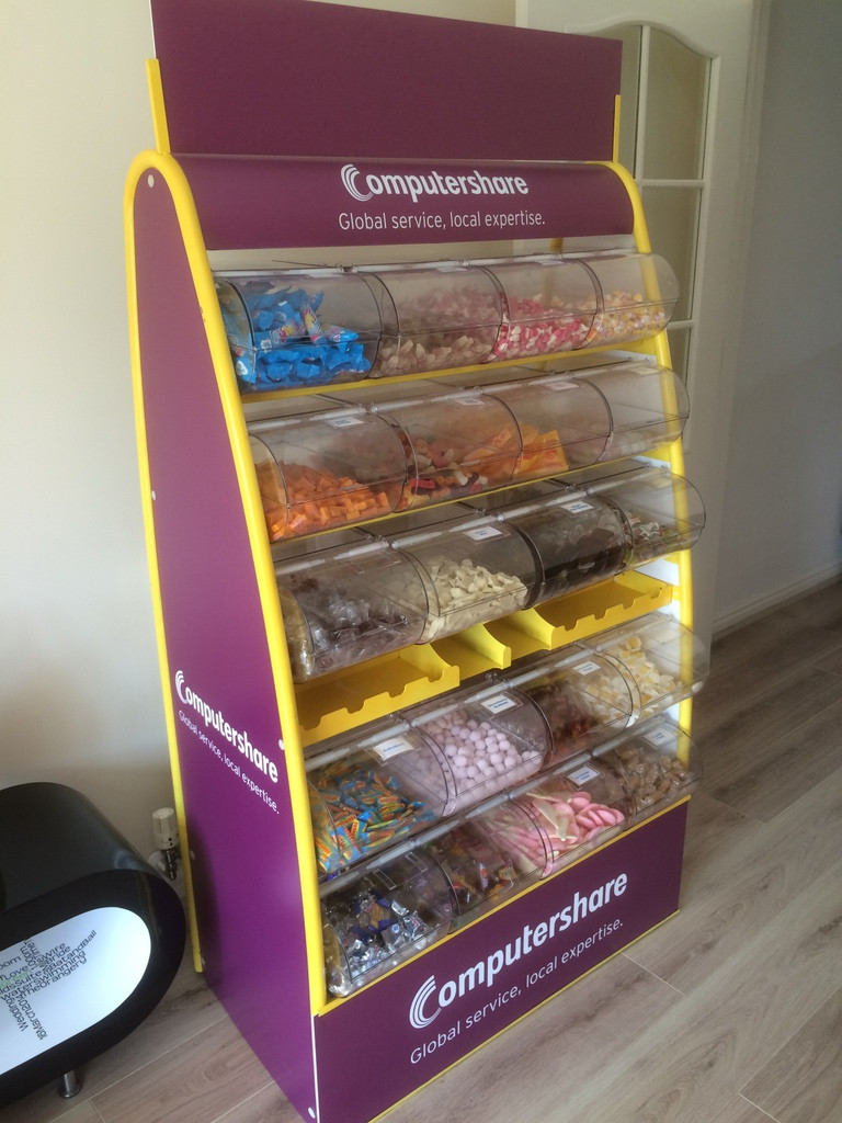 branded confectionery stand