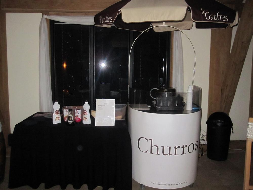 churros cart wedding hire