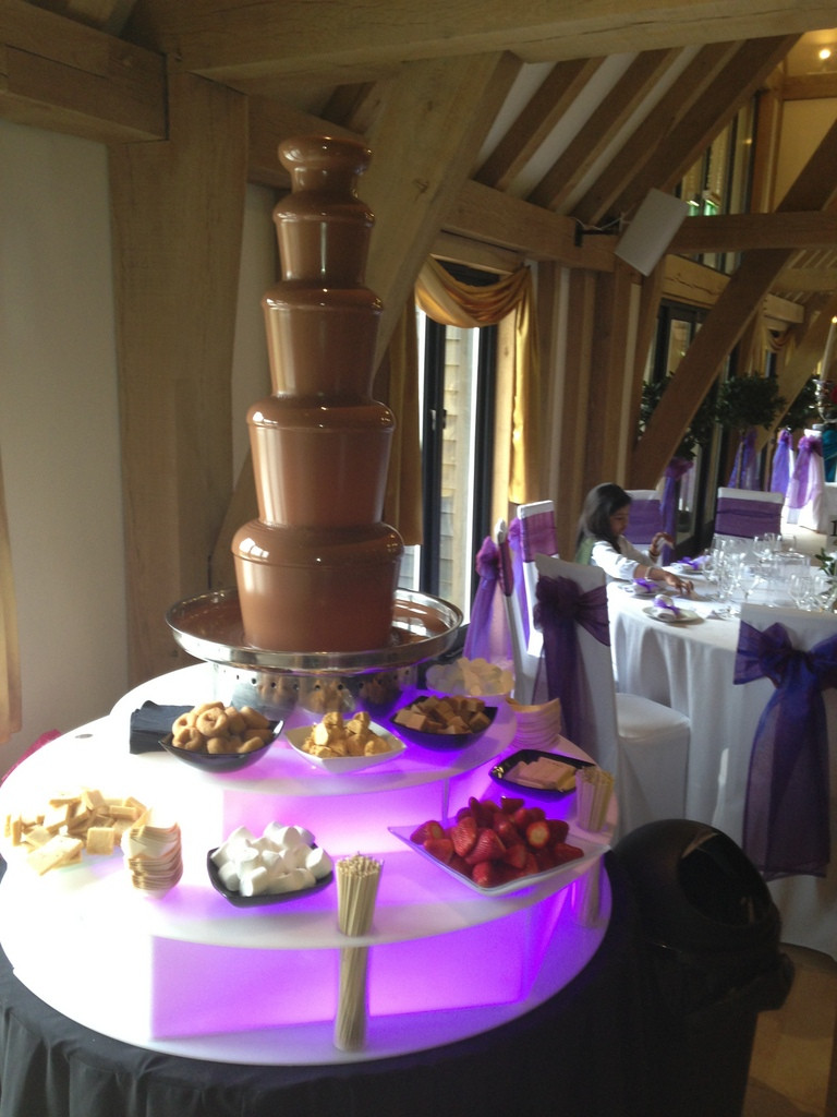 chocolate fountain hire old kent barn