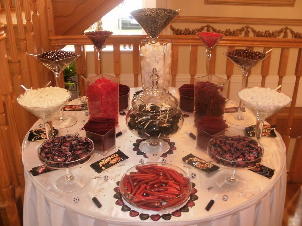 sweet table wedding hire