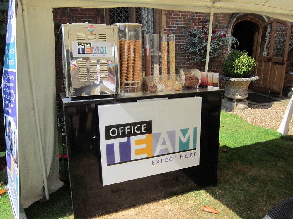 branded ice cream machine hire london