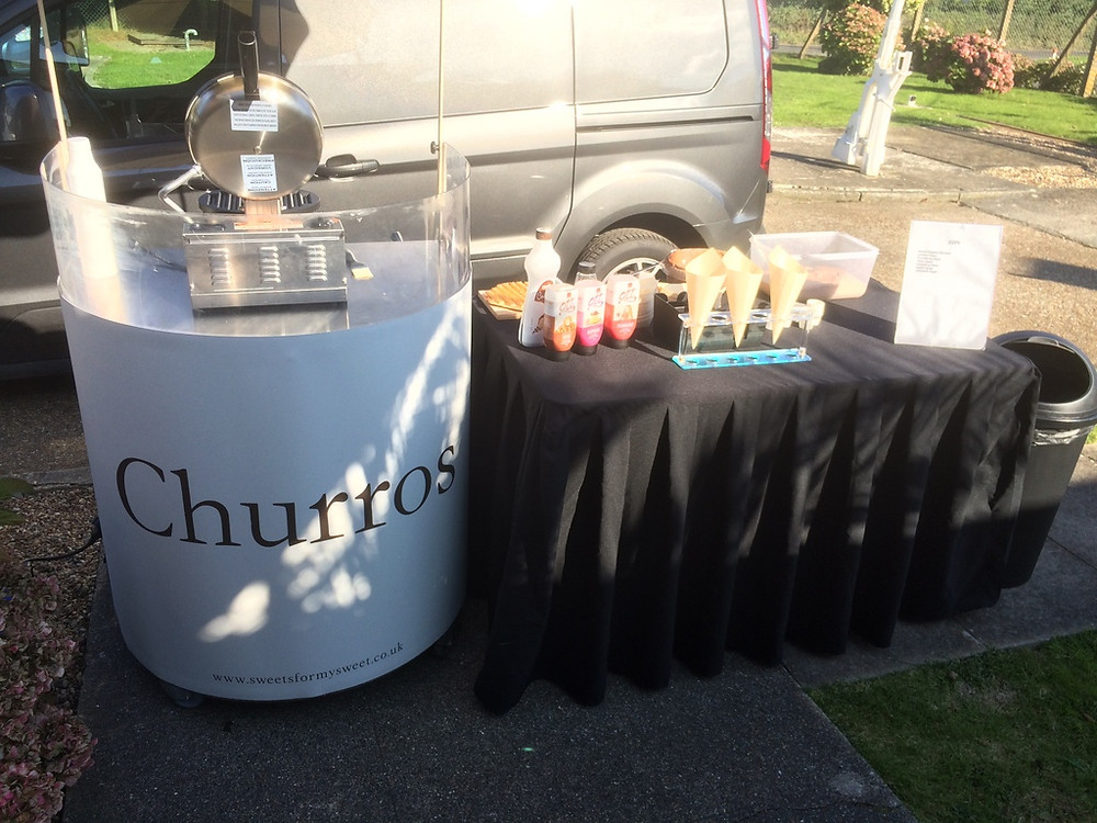 churros cart wedding
