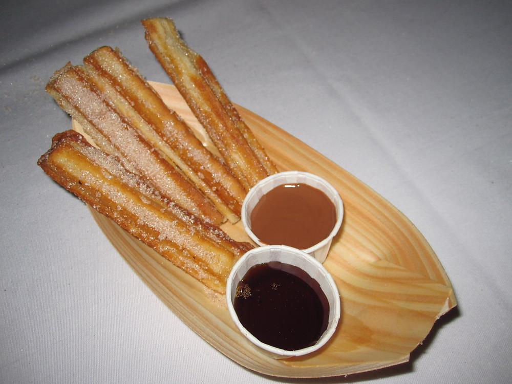 churros for guests at party