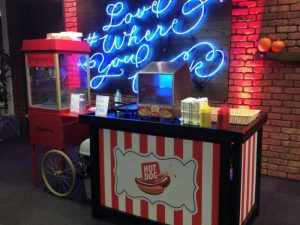 hot dog stand hire London
