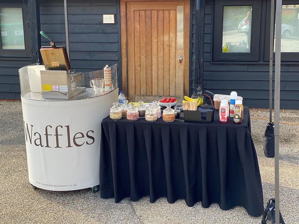 waffle stand hire weddings