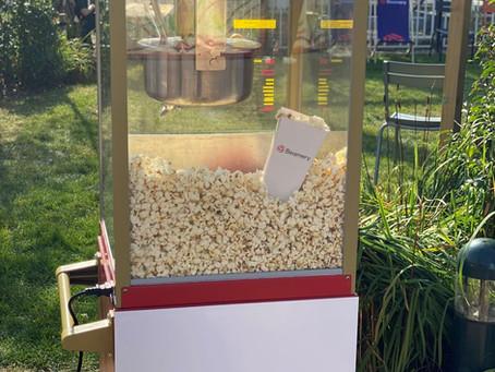 pop corn stand branding