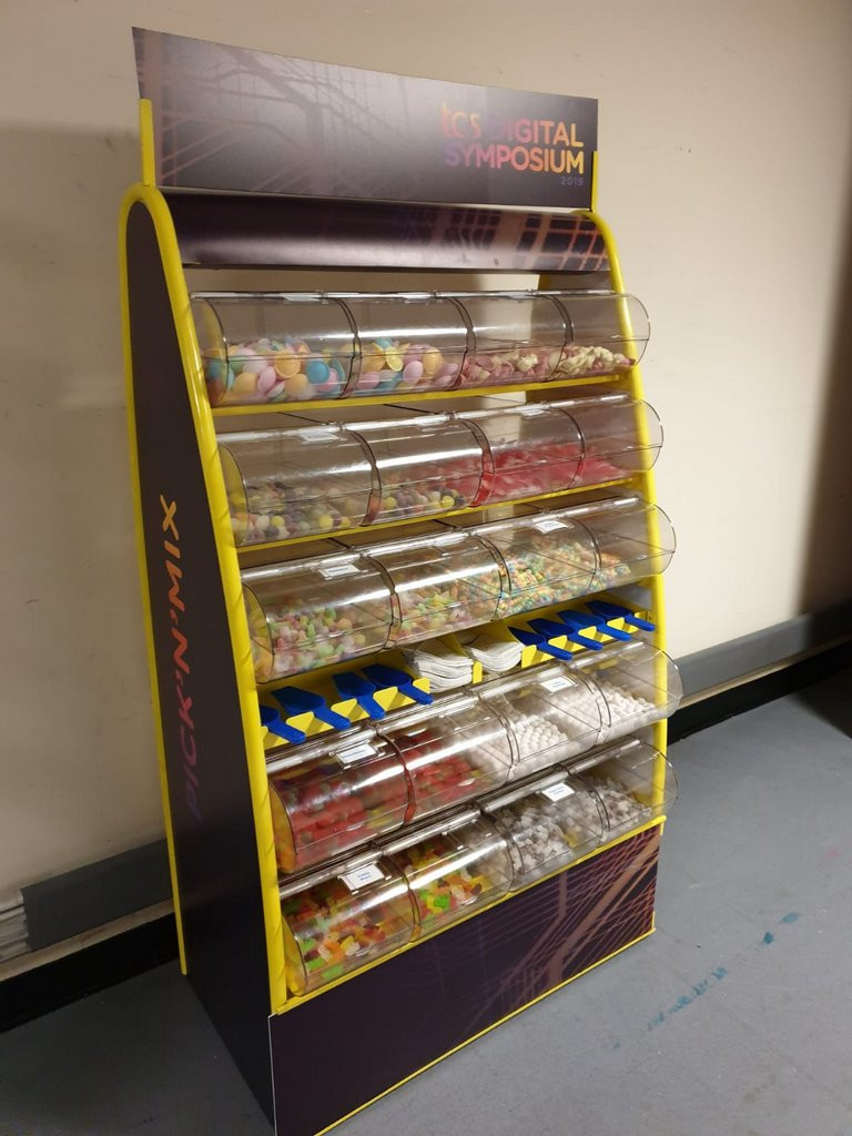 branded sweet stand hire