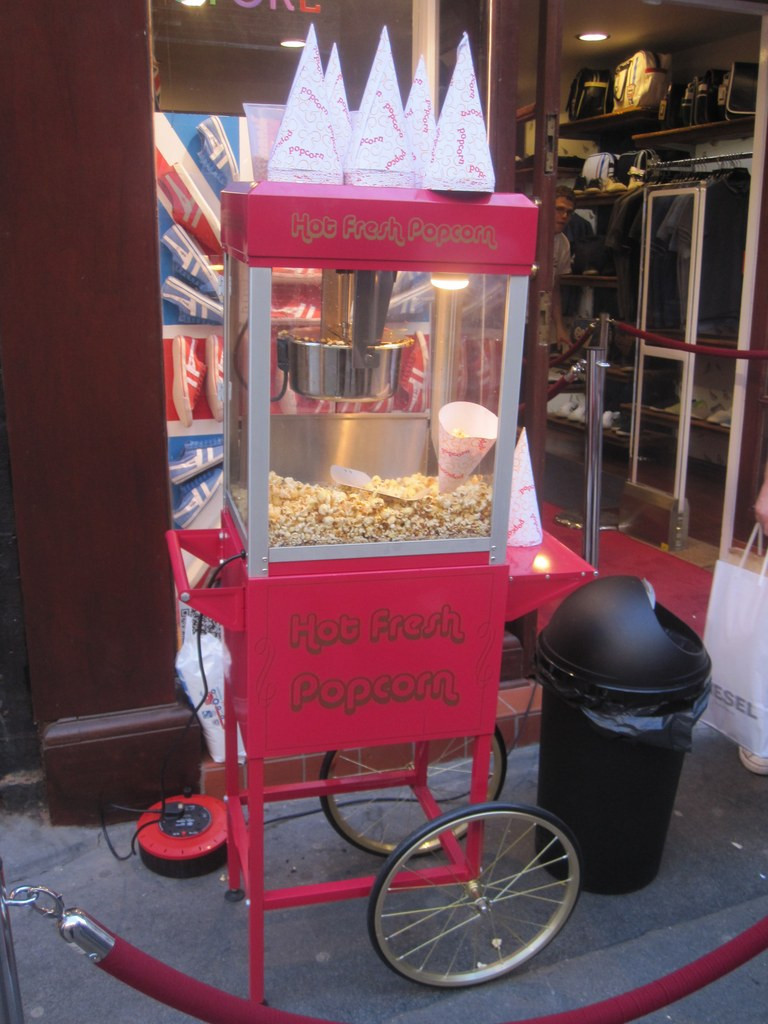 popcorn cart event hire