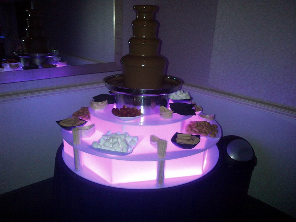 wedding reception chocolate fountain