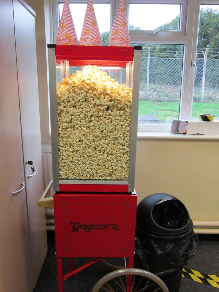 popcorn cart staffed