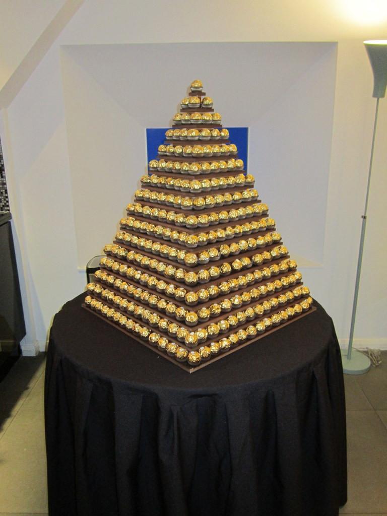 chocolate ferrero rocher pyramid hire