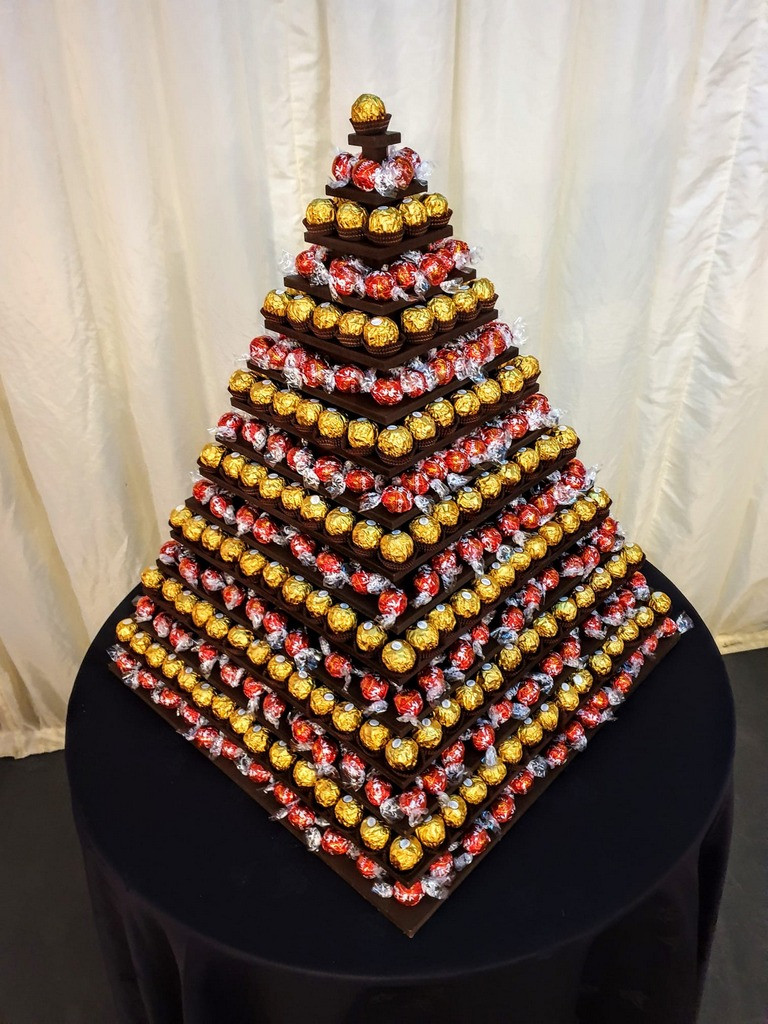 chocolate pyramid event hire