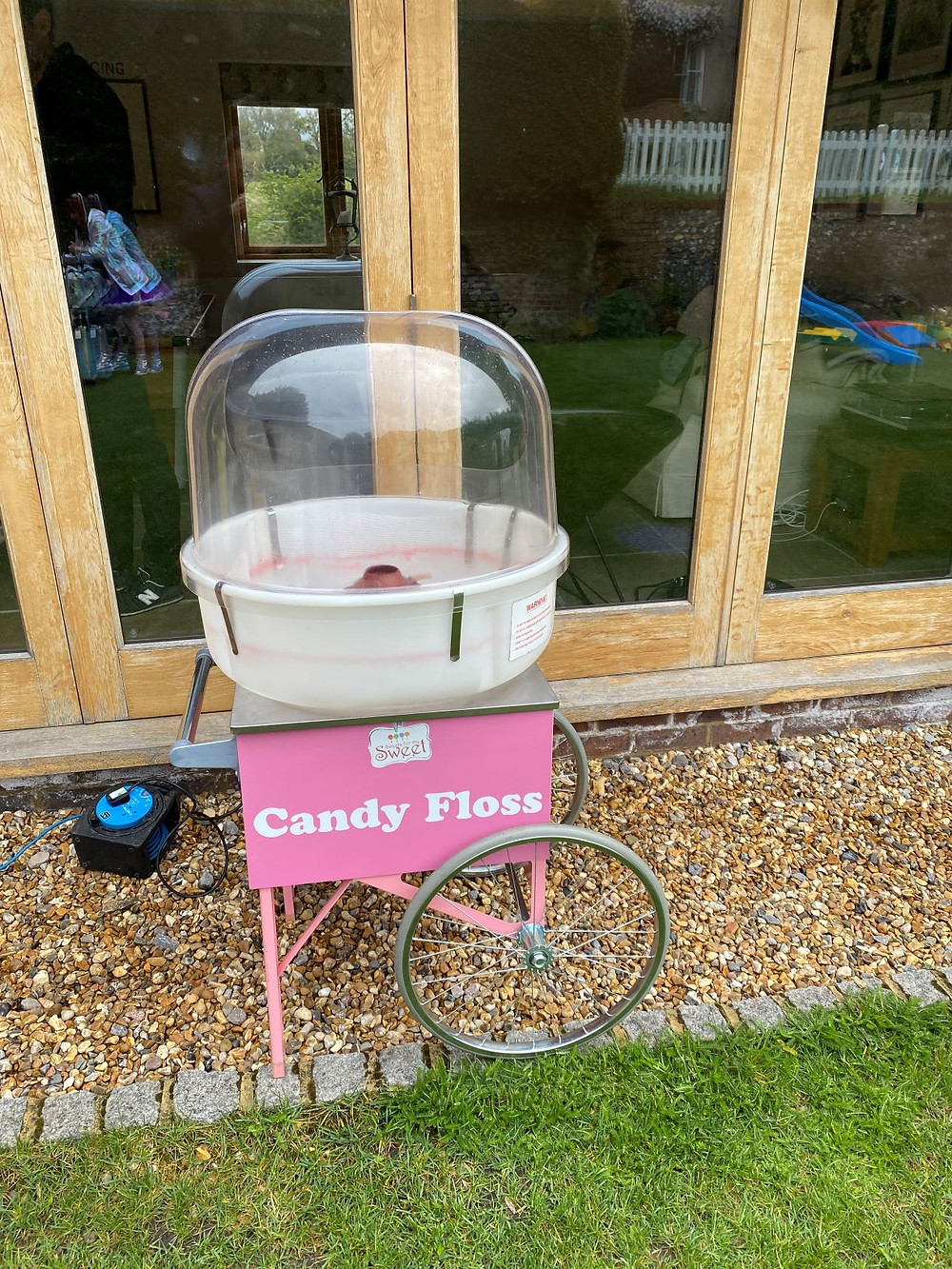 pink candy floss hire events