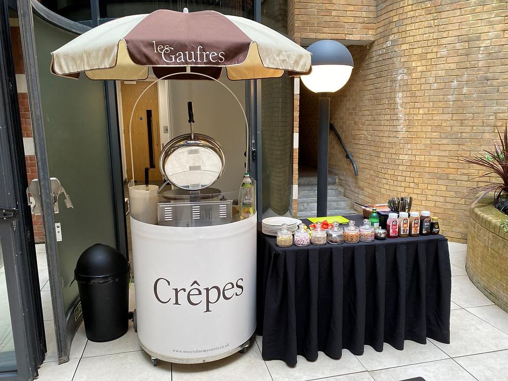crepe cart hire London office