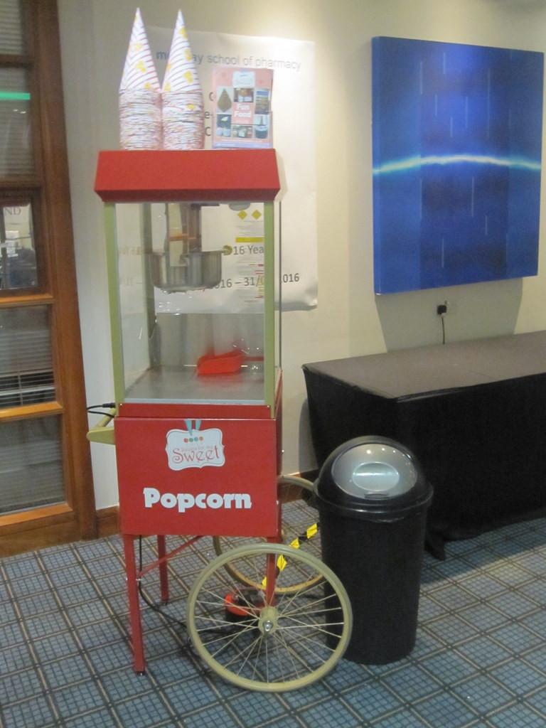 popcorn hire event