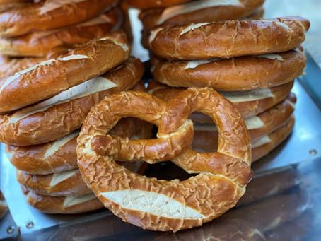 Oktoberfest pretzels seller