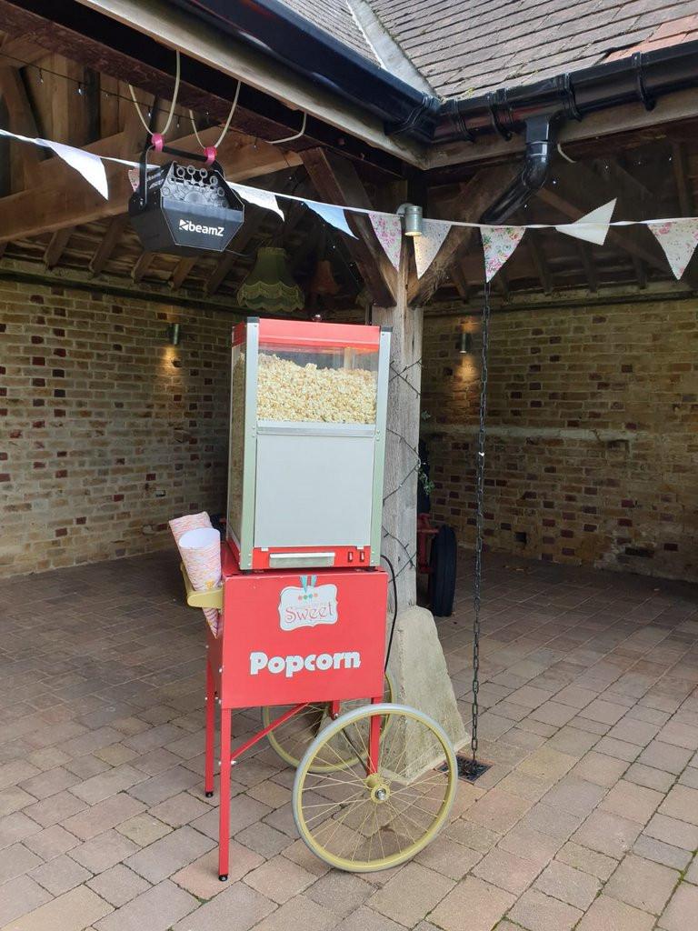 popcorn wedding hire