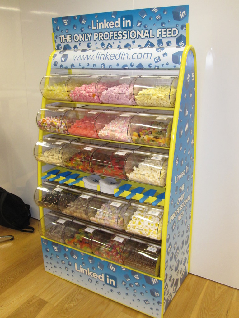 branded sweet stand event hire