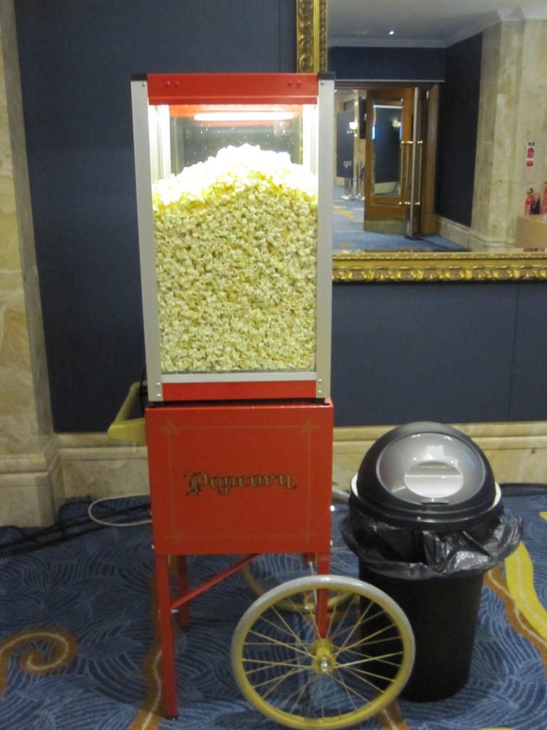 popcorn heater hire london