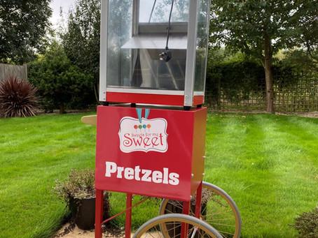 Oktoberfest pretzel cart