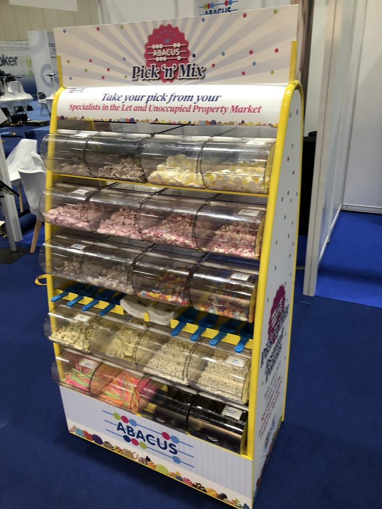 branded pick n mix stand hire exhibition