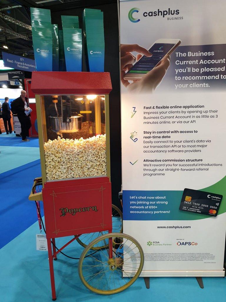 popcorn exhibition hire excel london