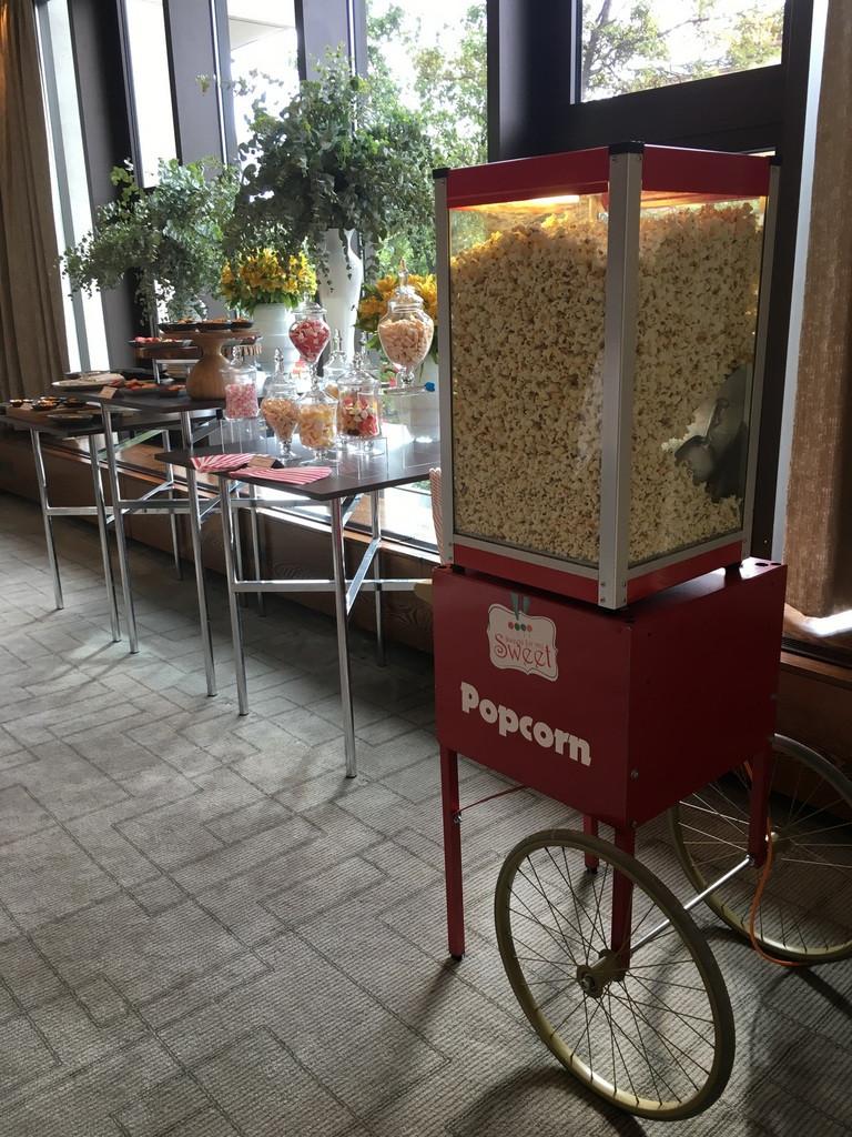 wedding popcorn cart hire