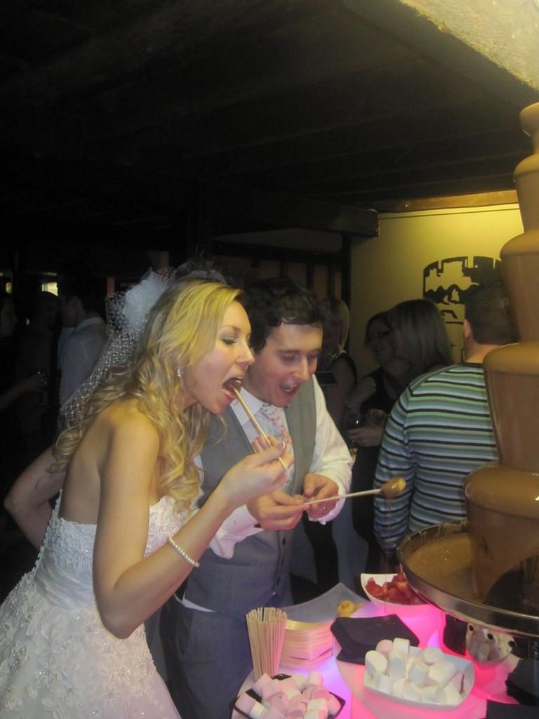 chocolate fountain hire wedding