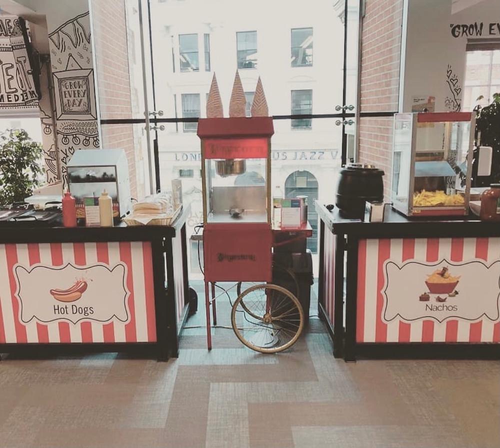 hot dog hire nacho stand hire